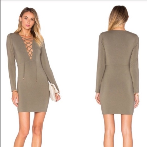 Lovers + Friends Dresses & Skirts - Lovers & Friends olive bodycon dress S